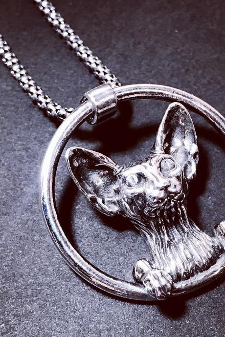 Sphinx cat - silver 925 pendant