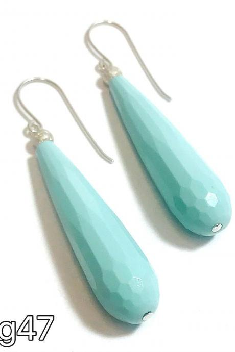 Turquoise - silver 925 earrings - drop