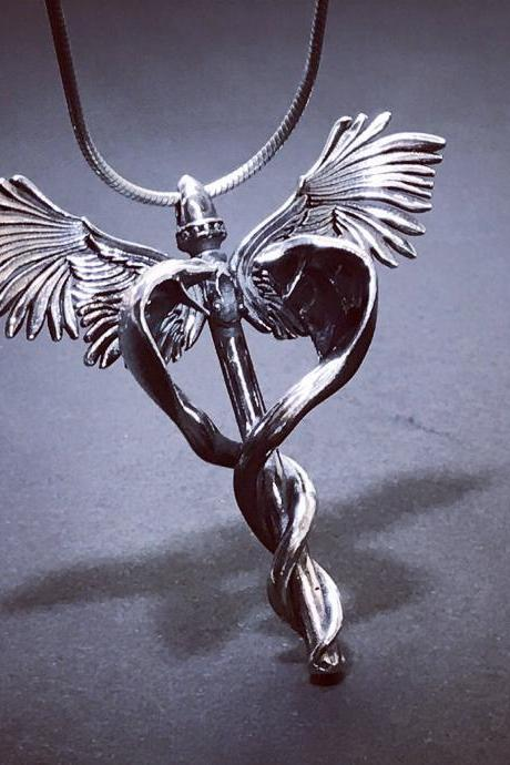 Caduceus - silver 925 pendant - Exclusive !!!